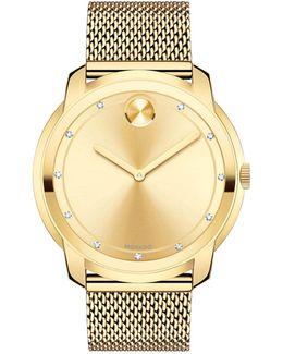Bold Stainless Steel Multilink Bracelet Watch