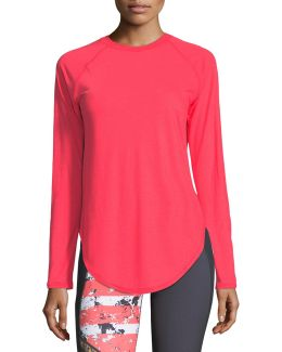 Breathe Open-back Long-sleeve Performance Top