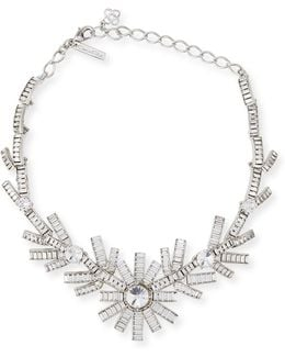 Modern Baguette Crystal Necklace