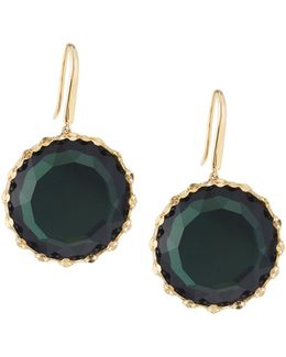 14k Midnight Round Drop Earrings