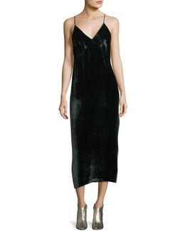Blessing Velvet Midi Dress