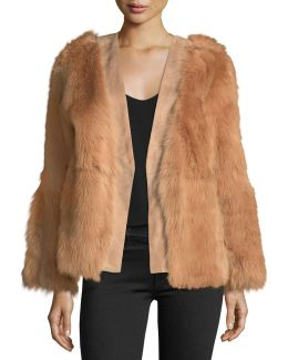 Long-sleeve Fur Wrap Jacket