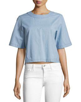Archer Short-sleeve Chambray Shirt