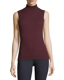 Cashmere Turtleneck Shell Top