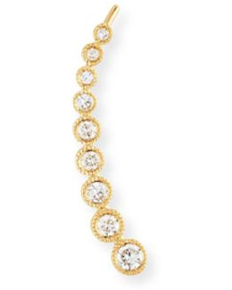 14k Gold & Diamond Bezel Climber Earring