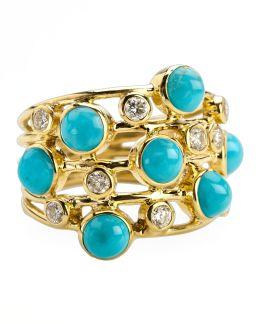 Turquoise & Diamond Constellation Ring