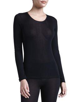 Silk Long-sleeve Shirt
