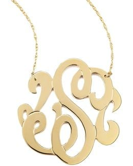 "Swirly Lg Intial Necklce ""a"