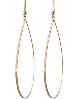 Gold Flat Teardrop Earrings