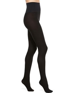 Perfectly Opaque Matte Control-top Tights