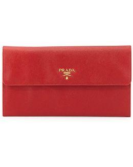 Saffiano Flap Travel Wallet