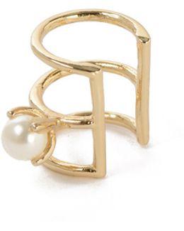 Delicate Caged Pearl Ear Cuff