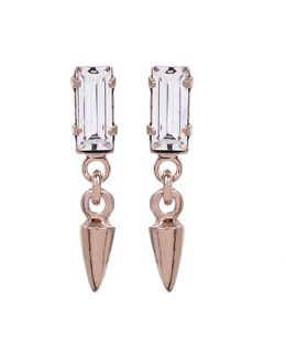 Baguette Bullet Drop Earrings