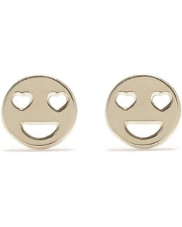 Heart Eye Button Studs
