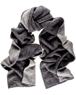 Two Tone Grey Double Faced Cashmere Scarf