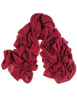 Oversized Burgundy Cashmere Knit Scarf
