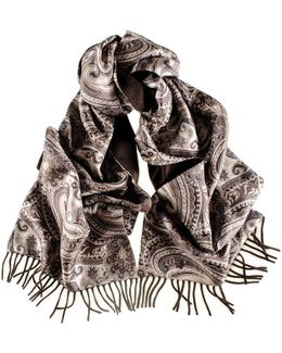 Isero Cashmere And Silk Double Faced Scarf
