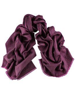 County Herringbone Silk And Merino Wool Scarf