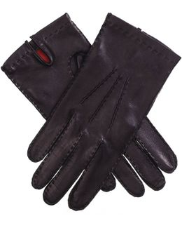 Men's Silk Lined Leather Gloves