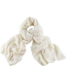 Vanilla Oversized Lace Knitted Cashmere Wrap