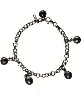 Dido Tahitian Black Pearl Charm Bracelet