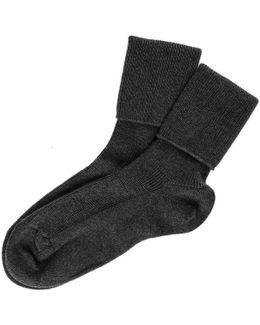 Ladies' Black Cashmere Socks