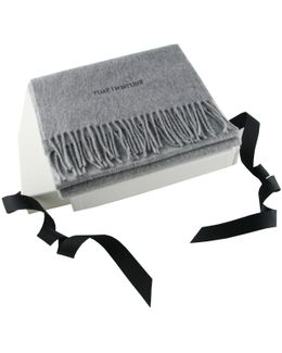 Corporate Branded Grey Cashmere Scarf