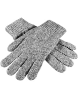 Men's Grey Cashmere Gloves