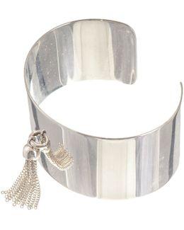 Olivia Sterling Silver Tassel Cuff