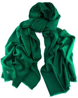 Emerald Green Handwoven Cashmere Shawl