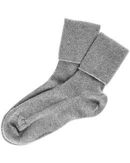 Ladies' Grey Cashmere Socks