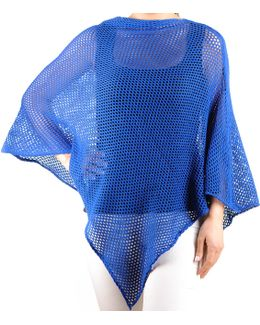 Cobalt Blue Soft Cotton Poncho