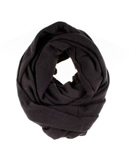 Black Double Size Knitted Cashmere Snood