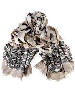 Malana Himalayan Cashmere And Wool Scarf