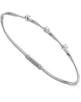 Marrakech Bracelet In 18k White Gold With Diamonds
