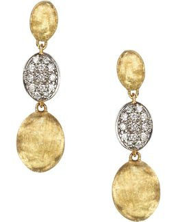 Diamond Siviglia Earrings In 18k Yellow Gold