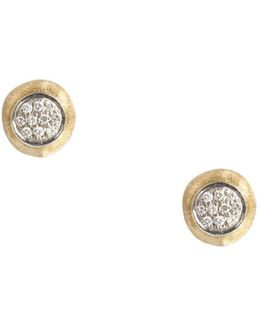 Delicati Earring In 18k Yellow Gold With Pavé Diamonds