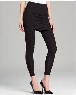 Ruched Skirt Crop Leggings