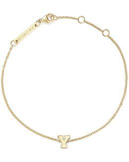 14k Yellow Gold Initial Bracelet