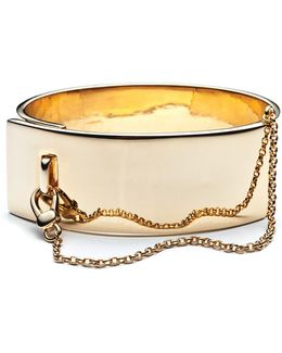 Safety Chain Cuff Gold