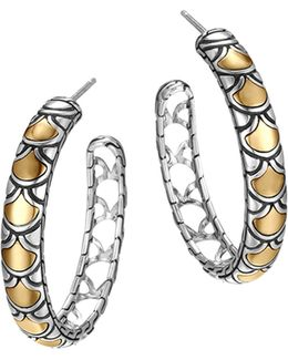 Sterling Silver & 18k Gold Naga Medium Hoop Earrings