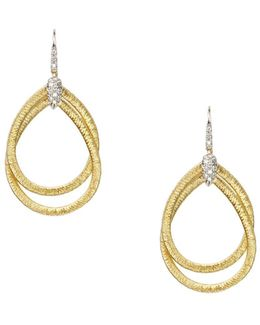18k Yellow Gold Cairo Drop Earrings With Diamonds