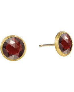 18k Yellow Gold Jaipur Garnet Stud Earrings