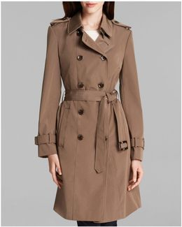 Trench Coat - Double Breasted Belted