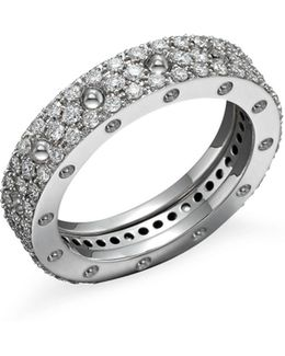 18k White Gold Pois Moi Diamond Pavé Ring