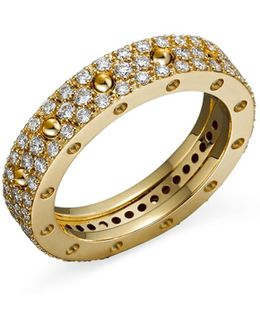 18k Yellow Gold Pois Moi Diamond Pavé Ring
