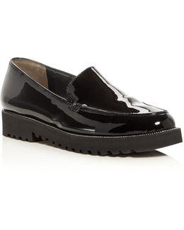 Ariana Patent Platform Loafer Flats