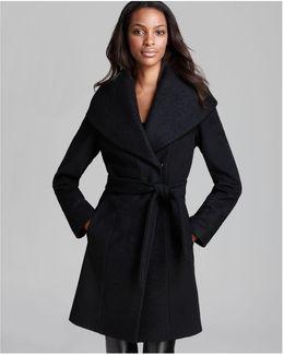 Coat - Belted Wool Wrap