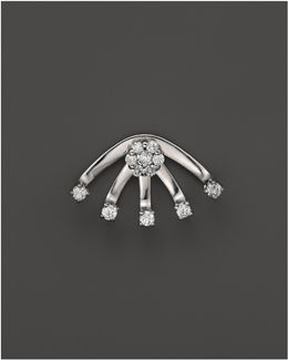 Diamond Stud Earring With Jacket In 14k White Gold
