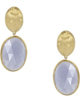 18k Yellow Gold Chalcedony Siviglia Earrings